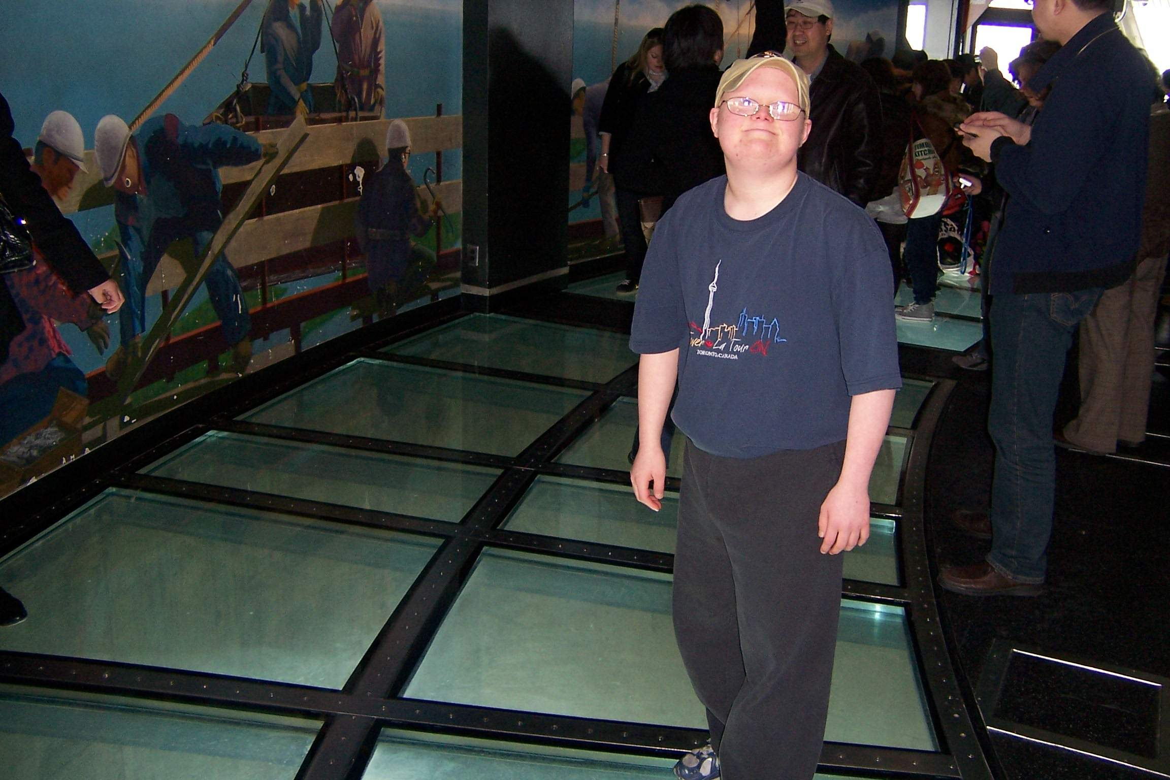 Standing On The Glass Floor At The Look Out Level At The CN Tower