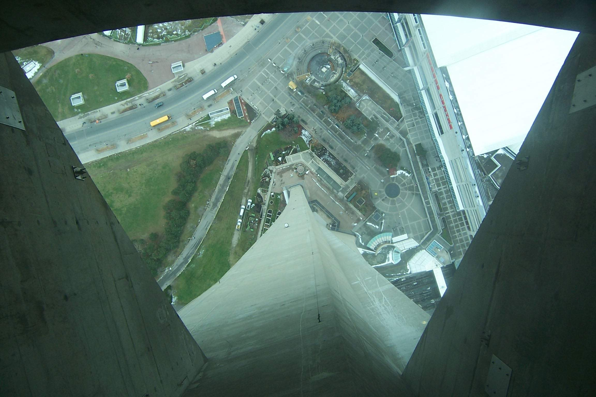Looking Down From The Glass Floor Of The CN Tower